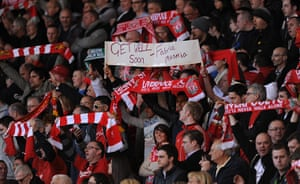 Muamba get well messages: Liverpool banner for Muamba