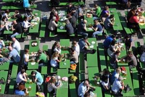 Spring: A Beer Garden in Spring