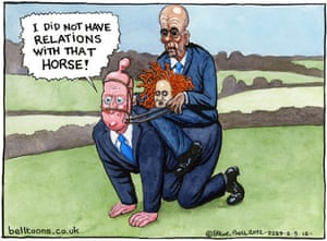 02.03.12: Steve Bell on claims David Cameron rode Rebekah Brooks's former police horse