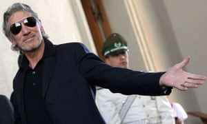 Roger Waters at the presidential palace in Chile