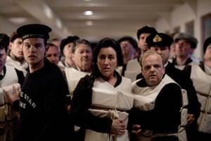Titanic: Maria Doyle Kennedy as Muriel Batley and Toby Jones as John Batley