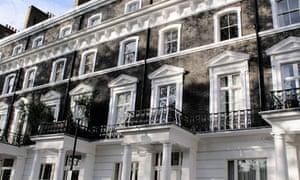 Houses on Onslow Square, South Kensington, London
