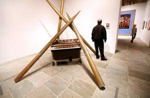 "Whitney Biennial: An installation view of ""Pipe Organ"" (2009-11), a sculpture by Lutz Bacher"
