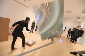 Whitney Biennial: Georgia Sagri performs during a press preview