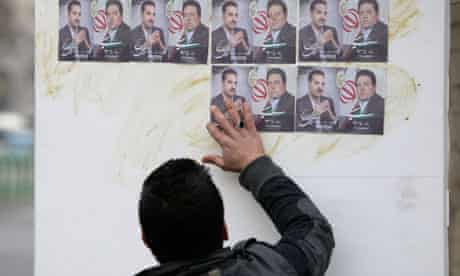 Iranian election posters
