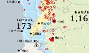 Syria crisis graphic