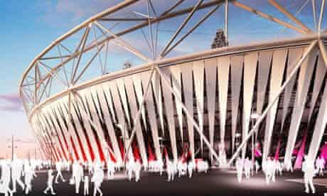 Dow Chemical-sponsored wrap around the London Olympic stadium