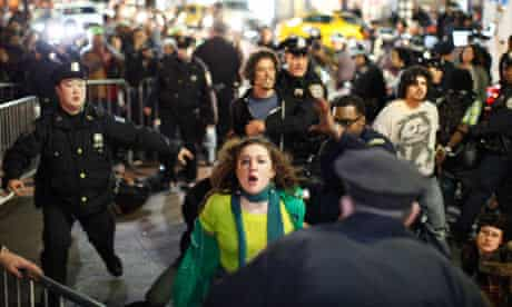 Occupy Wall Street members at Zuccotti Park