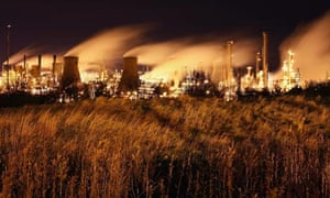 Grangemouth oil refinery, near Edinburgh