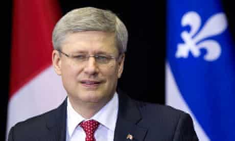 Canadian PM Stephen Harper