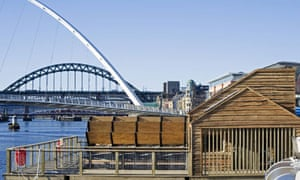 Flowmill that generates its own electricity through a giant waterwheel by the Tyne