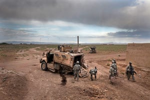 Sean Smith open weekend: a Maxpro MRAP vehicle disabled by an IED