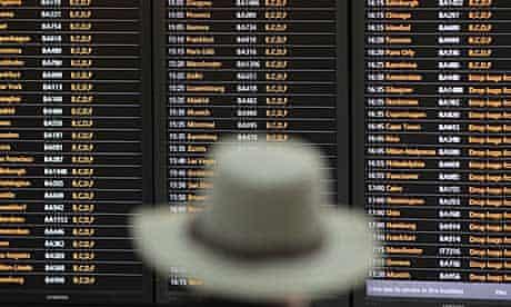 Flight departures board at Heathrow Terminal 5
