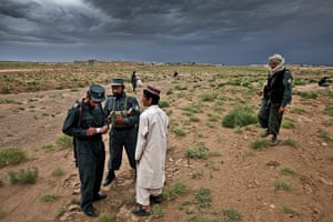 Sean Smith open weekend: Afghan Police questioning a local teenager