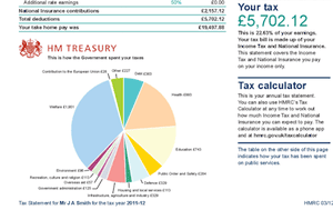 Personal tax statement example