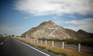 A 'Z' is painted on a hill in Mexico in reference to the Zetas drug cartel
