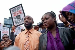Trayvon Martin march: Tracy Martin and Sybrina Fulton, Trayvon Martin's parents join the protest