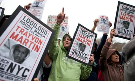 Protest to demand justice for the death of Trayvon Martin in New York