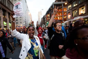 Trayvon Martin march: Demonstrators march during rally for Trayvon Martin