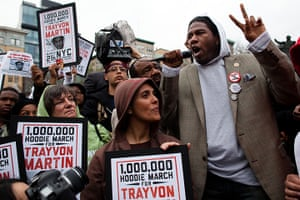 Trayvon Martin march: New York City Council Member Jumaane D. Williams speaks at a rally