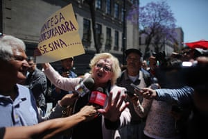24 hours: Mexico City, Mexico: Protests against the release of Florence Cassez