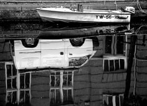 Readers' pictures: Van reflected in a canal in Amsterdam