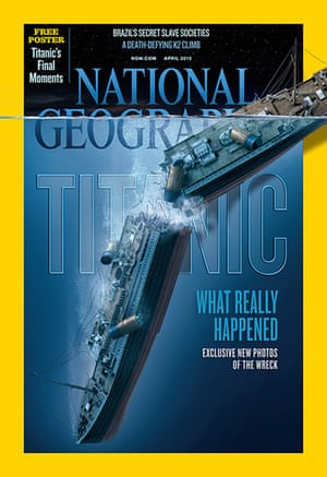 Titanic sonar images: The cover of the April 2012 issue of National Geographic