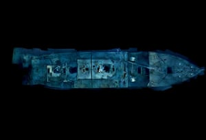Titanic sonar images: Ethereal views of Titanic's bow offer a comprehensiveness of detail