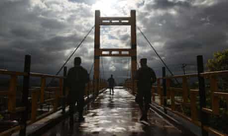 Soldiers in Honduras ahead of a visit by US VP Joe Biden