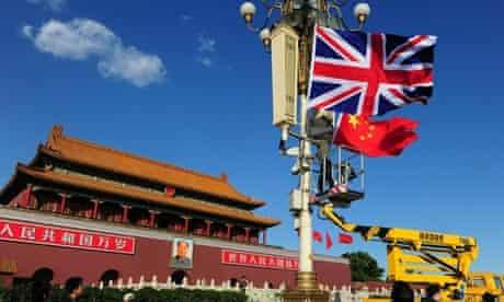 The Union Jack is hoisted beside the fla