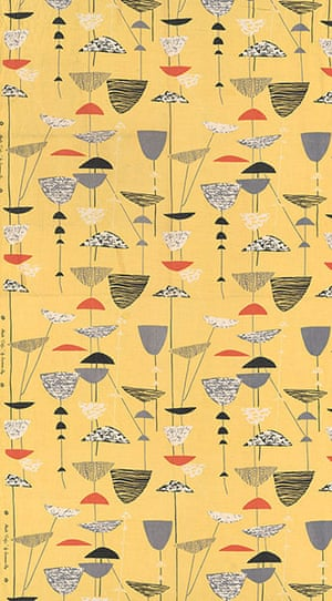 British Design at V&A: British Design at V&A - Calyx fabric by Lucienne Day