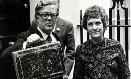Sir Geoffrey Howe and his wife Elspeth on budget day in 1979