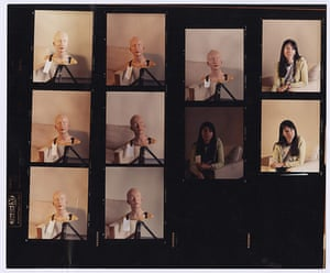 Gillian Wearing masks: Contact sheet from shoot of Self Portrait as My Sister
