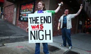Atheists protest in Tacoma, Washington.