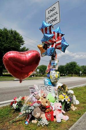 Trayvon Martin: A view of a memorial dedicated to Trayvon Martin