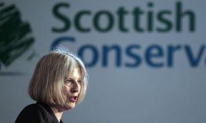 Home secretary Theresa May addresses the Scottish Conservative conference