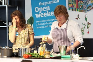 Guardian Open Weekend: Allegra MacEvedy makes a burmese curry with Merope Mills