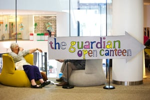 Guardian Open Weekend: The Guardian open canteen