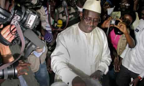 Presidential election run-off in Dakar, Senegal
