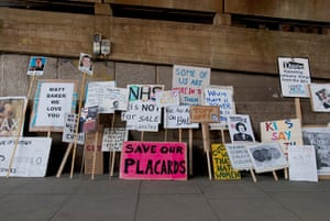 Placard gallery: Save Our Placards exhibition beneath Hungerford Bridge