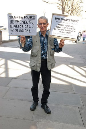 Placard gallery: David Rodway, a retired philosophy lecturer