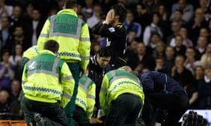 Fabrice Muamba collapses at Tottenham