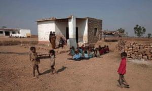 Sahariya tribe children at school in Rajasthan