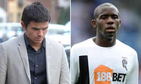 Internet troll Liam Stacey and Fabrice Muamba