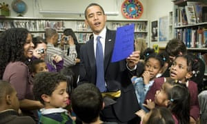 US President Barack Obama at Capital City public charter school