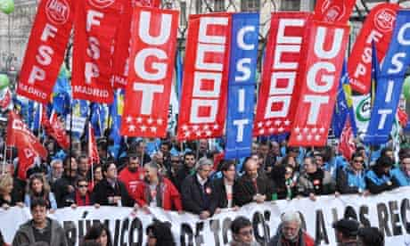 Spanish workers protest against labour reforms