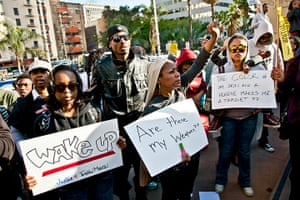 Trayvon Martin marches: 1 Million Hoodie March For Trayvon Martin Los Angeles