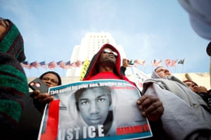 Trayvon Martin marches: Thousands gather in downtown Los Angeles