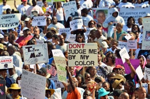 Trayvon Martin marches: Thousands of protestors march through the streets in Sanford, Florida