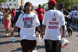Trayvon Martin marches: Protesters march in Sanford